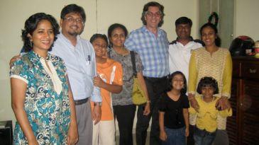Laurent visiting the Indian NGO Yuva for GoodnessTV